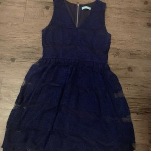Dresses & Skirts - Navy blue lace dress sleeveless